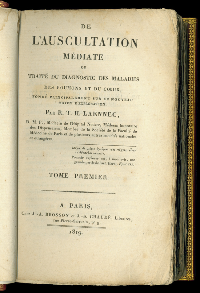 Early Medical Text by Laennec
